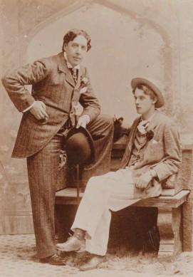 NPG P1122; Oscar Wilde; Lord Alfred Bruce Douglas by Gillman & Co